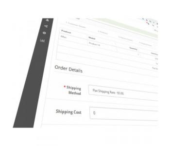 Shipping cost manual editor