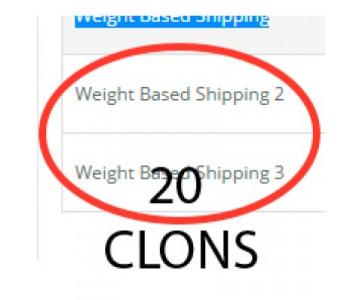 20 клонов доставки в зависимости от веса+ weight для OC2