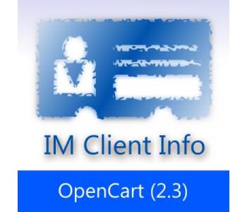 IMClientInfo OC 2.3 — Подробная информация о клиентах
