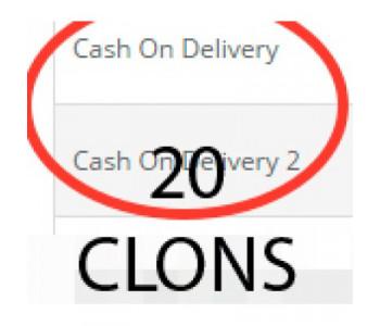 20 клонов оплаты при доставке cod для 2.0.x