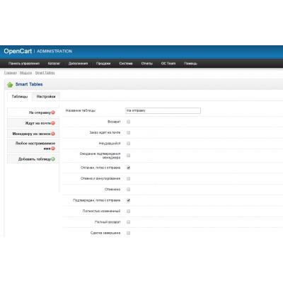 Smart Tables - кастомизация панели управления, добавление новых отчетов