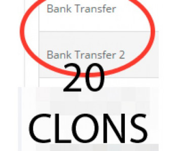 20 клонов банковского перевода bank_transfer для 2.x