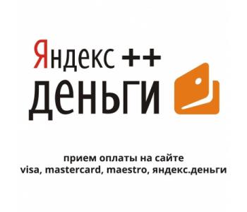 Visa, MasterCard, Maestro, Yandex money ++